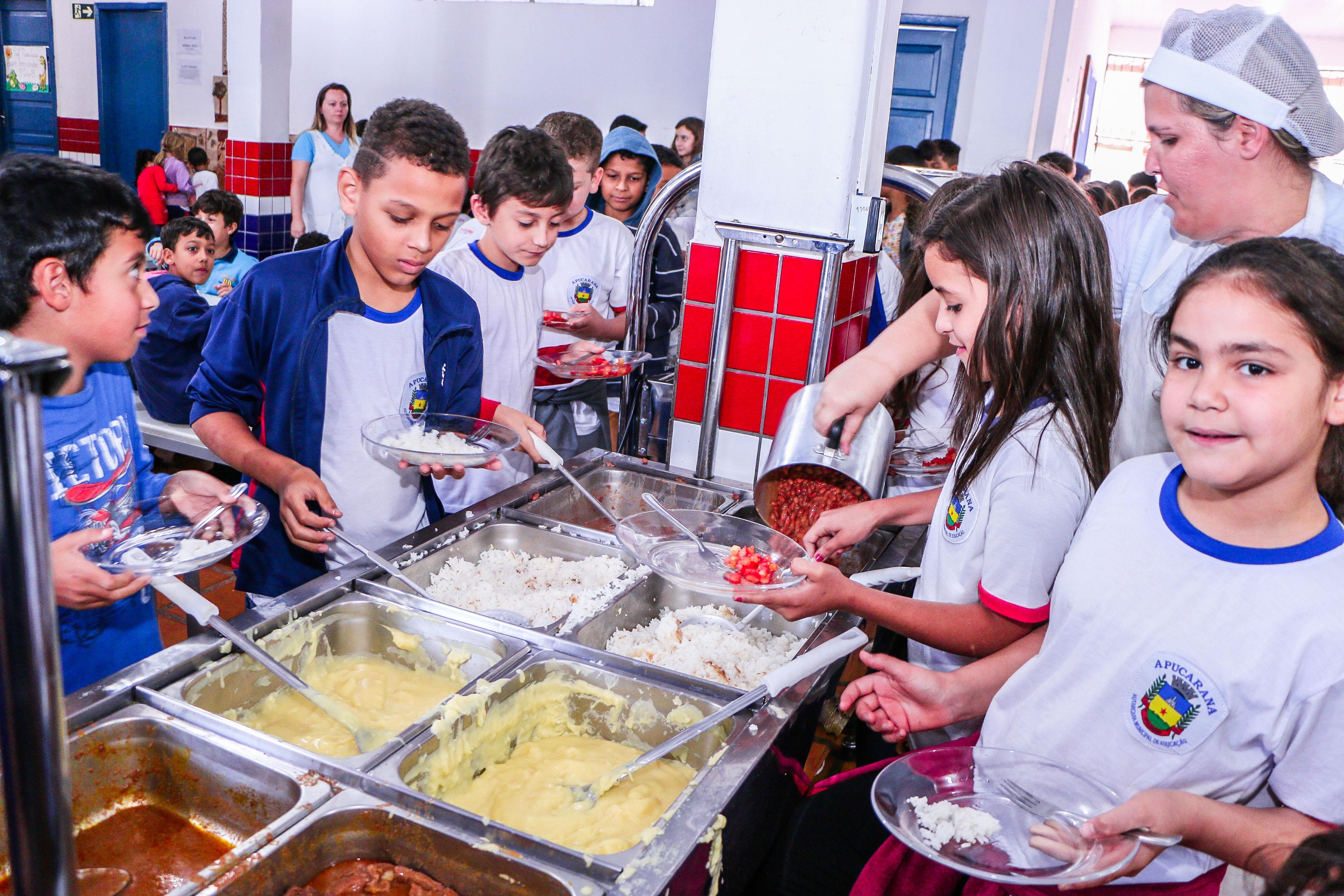 Apucarana divulga cardápios da alimentação escolar para o mês de fevereiro