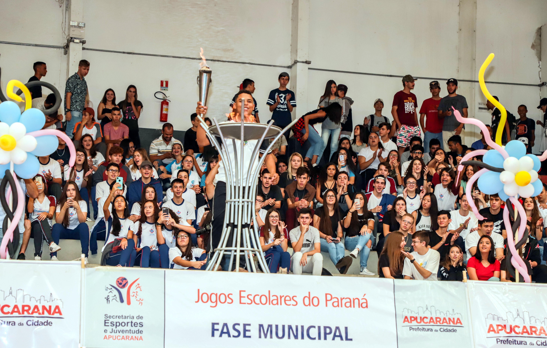 Apucarana abre a fase municipal dos 66º Jogos Escolares do Paraná
