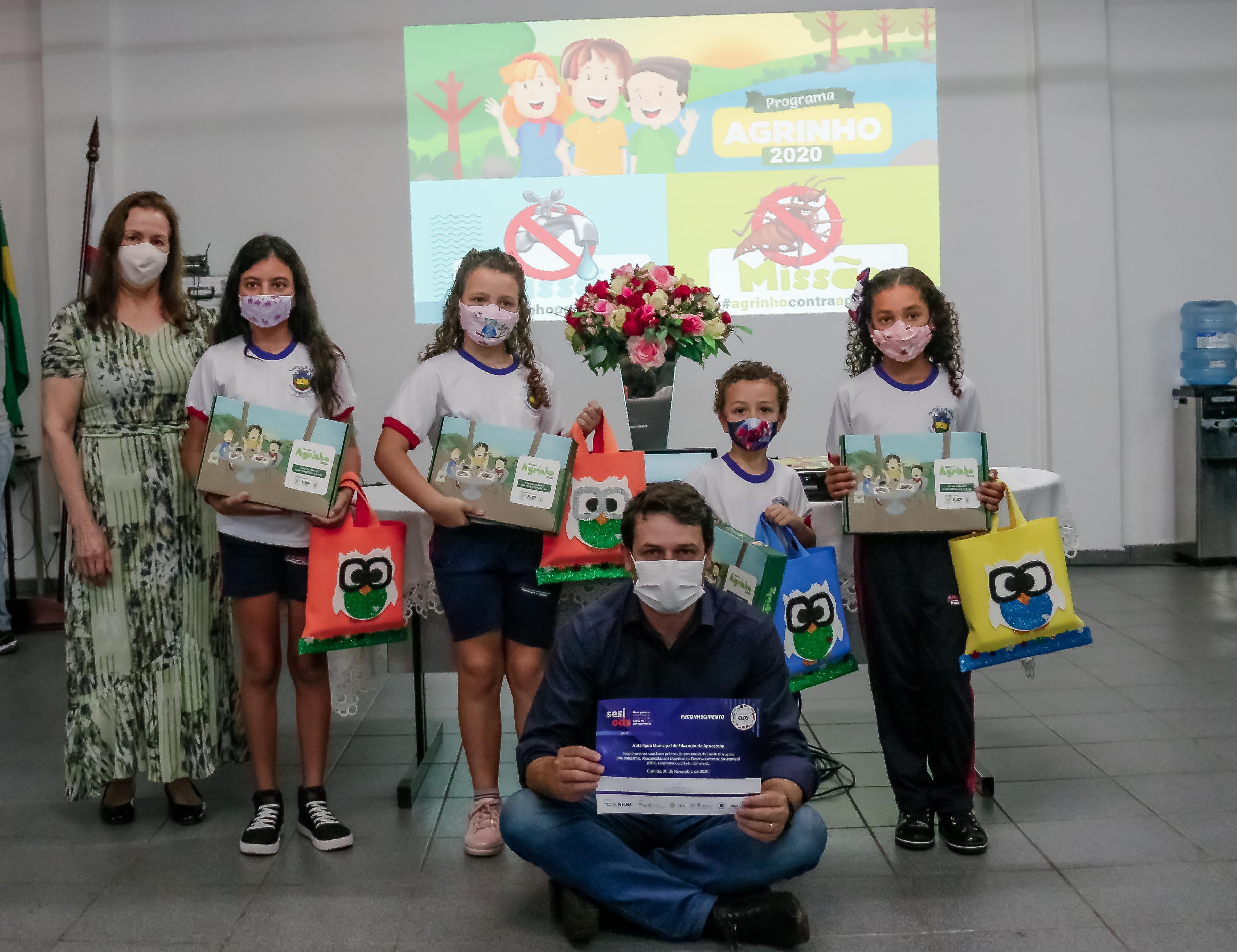 Sistema FAEP/SENAR-PR premia quatro alunos da rede municipal de Apucarana