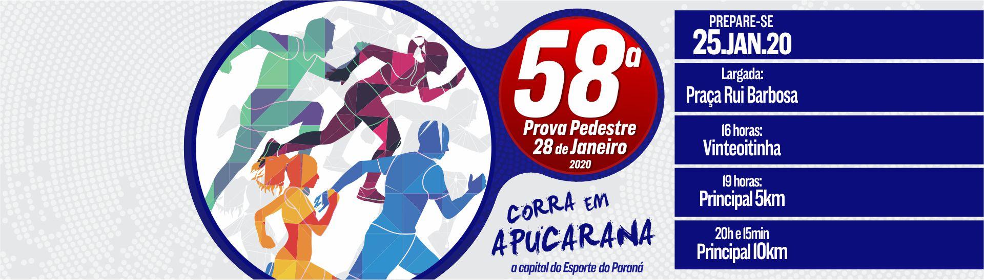 58ª Prova Pedestre 28 de Janeiro 2020